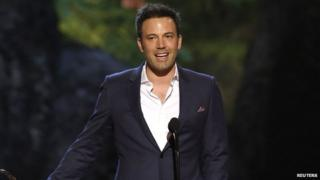 Actor Ben Affleck making a speech