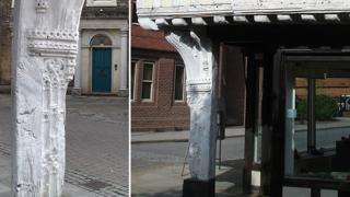 Curson Lodge Tudor corner post