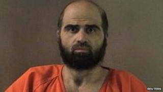 Maj Nidal Hasan is pictured in an undated Bell County Sheriff's Office photograph