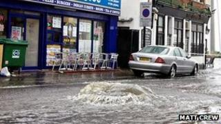 Southend sea front in bank holiday weekend floods