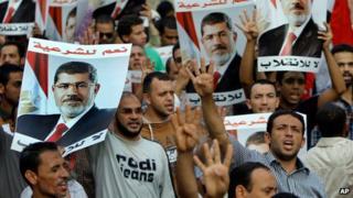 Morsi supporters in Cairo (19/08/13)