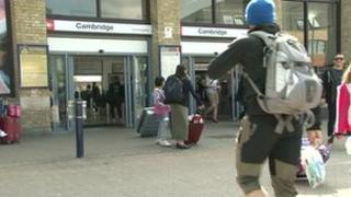 Cambridge train station on August 27