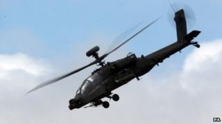 An Apache helicopter