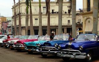Restored cars in Cuba
