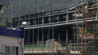 Fire damage to police centre
