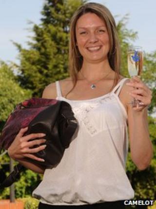 Jane O'Brien with her handbag