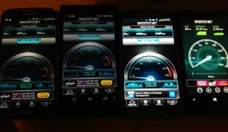 Speed tests on different 4G phones