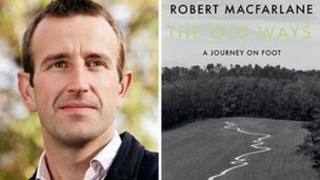 Robert Macfarlane and book cover for The Old Ways
