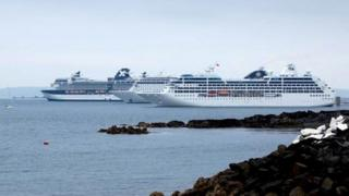 Cruise Ships in Little Russell