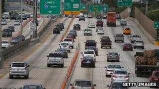 Motorists drive in Miami as Labour Day begins