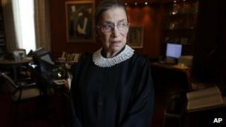 Ruth Bader Ginsburg in a 24 July file photo