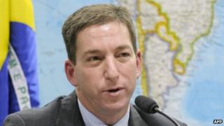 Glenn Greenwald testifying before the Brazilian Senate's foreign relations committee on 6 August, 2013