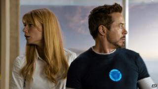 Gwyneth Paltrow and Robert Downey Jr