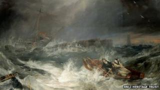 Grace Darling by J.W. Carmichael (figures attributed to H.P. Parker)