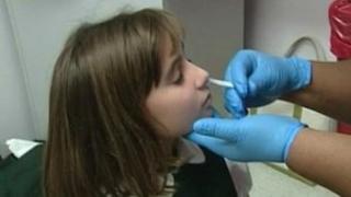 Flu vaccine administered