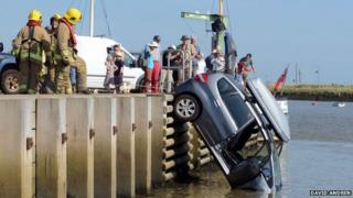 Car at Orford Quay