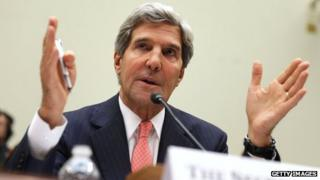 John Kerry testifies before Senate Foreign Relations Committee on 4 September 2013