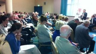 NIPSA held the public meeting in Coleraine to discuss the planned job losses at the DVA