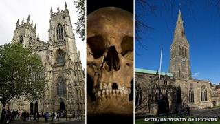 York Minster, Richard III's skull, Leicester Cathedral