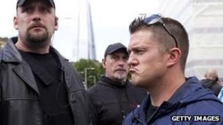 Tommy Robinson (right)