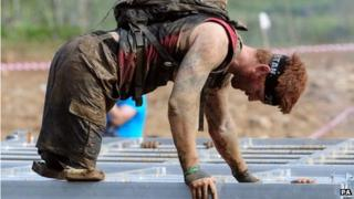 James Simpson taking part in the Spartan Race