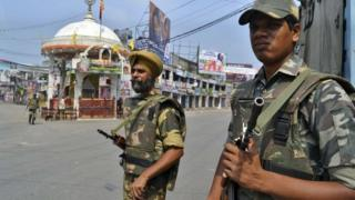 Troops from the Indian Army continue to patrol parts of violence-hit Muzzafarnagar