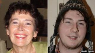Anne Bury and her son Alex