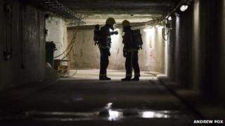 Firefighters in New Street tunnels
