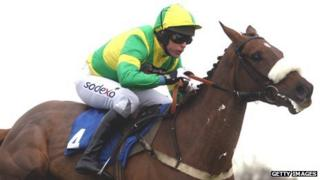 Former jockey Mark Bradburne in action
