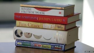 Pile of shortlisted novels