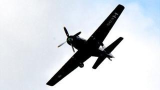 Skyraider at the Jersey International Air Display