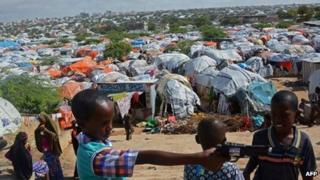 Camp for homeless in Mogadishu 8 Aug 2013