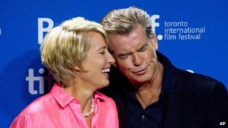 Emma Thompson and Pierce Brosnan