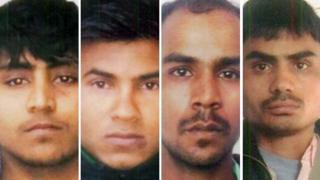 Sentenced rapists (from left to right): Vinay, Pawan, Mukesh, Akshay