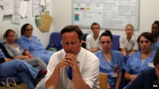 David Cameron at Salford Royal Hospital's A&E