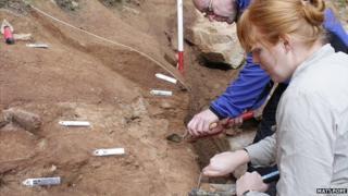 Archaeological dig at La Cotte de St Brelade, Jersey