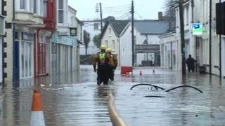 Flooding in Braunton