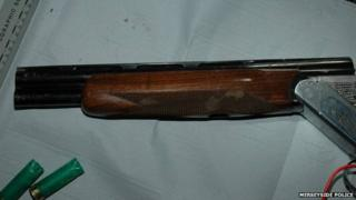 Sawn-off double-barrelled shotgun