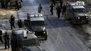 Israeli troops in Jenin (17/09/13)