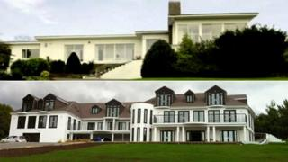Mr Shah's house in Barton-le-Clay before (above) and after