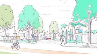 Ruabon Park artists' sketch