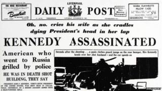 Daily Post headline on the death of JF Kennedy