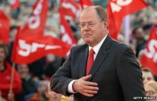 Peer Steinbrueck at a rally in Berlin, 16 September