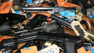 Library picture of firearms