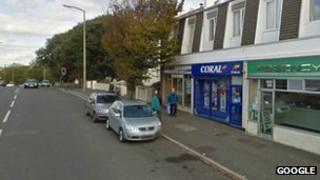 Coral branch in Dorchester Road, Weymouth
