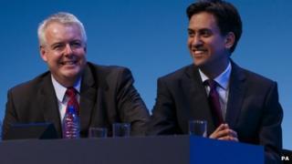 Carwyn Jones with Ed Miliband in Brighton