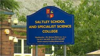Saltley School sign