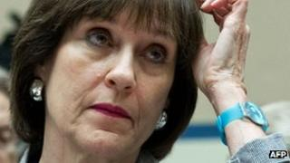 Internal Revenue Service Director of Exempt Organizations Lois Lerner listens during testimony to the House Oversight and Government Reform Committee in Washington, DC 22 May 2013