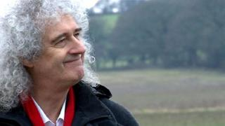 Brian May on his land at Bere Regis