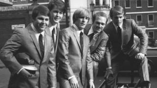 Beach Boys in London during a visit in 1964